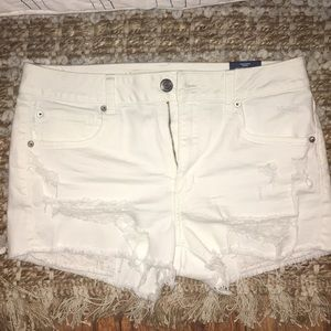 American Eagle destroyed white shorts